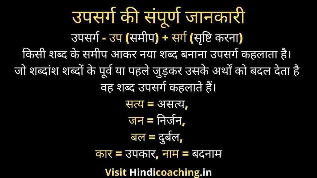 Hindi grammar upsarg ki paribhasha - उपसर्ग